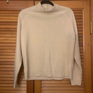 Carolyn Taylor Mock Turtleneck Beige Sweater | LP